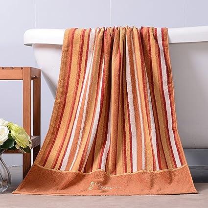 Toalla LINGZHIGAN baño absorbentes Suaves del Hotel baño del algodón casero 140 * 70cm (Color