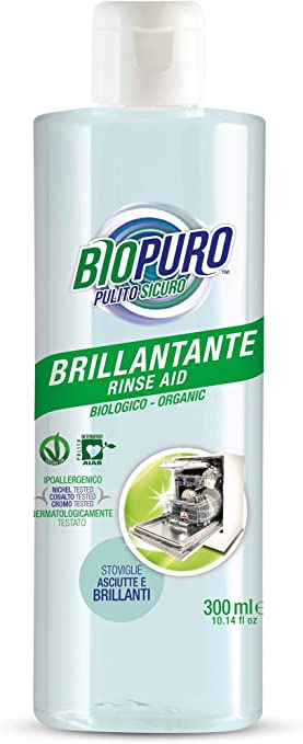 BIOPURO - Abrillantador orgánico para lavavajillas - 3 en 1 ...