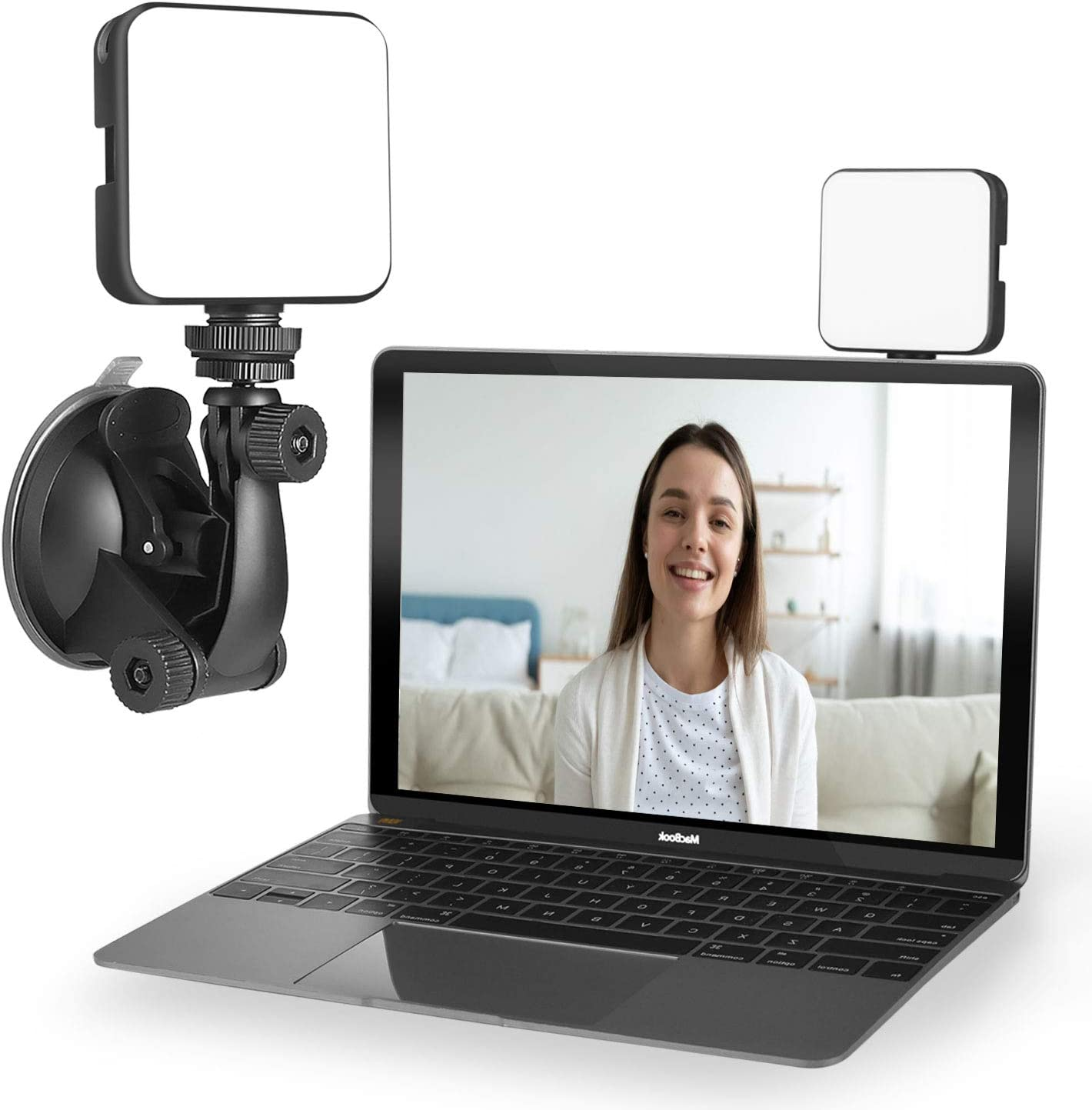 Light for Video Conferencing | Video Conference Lighting Kit | Cube Laptop Computer Webcam Light for Video Conferencing - Self Broadcast - Zoom Call Meeting - Microsoft Teams - Live Streaming