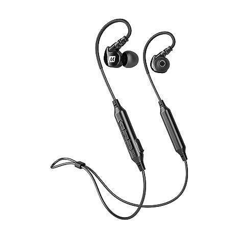 39894b1a981 Amazon.com: MEE audio M6B Bluetooth Wireless Sports In-Ear Earbud Headphones  , Black - EP-M6B-BK-MEE: Electronics