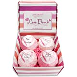 Amazon Price History for:Bath Bombs Gift Set - Luxury Bath Fizzies - Lush Size 6oz Natural Bath Balls - US Made - Love Bomb