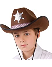Boland 04107 - Kinderhut Sheriff junior, Einheitsgröße, braun