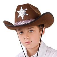 Boland, 04107, cappello da sceriffo Junior per bambini, taglia unica, colore: marrone