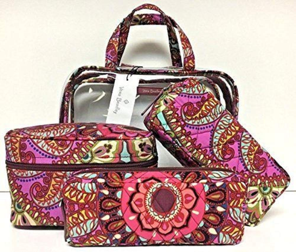 Vera Bradley Resort Medallion 4 Piece Cosmetic Organizer