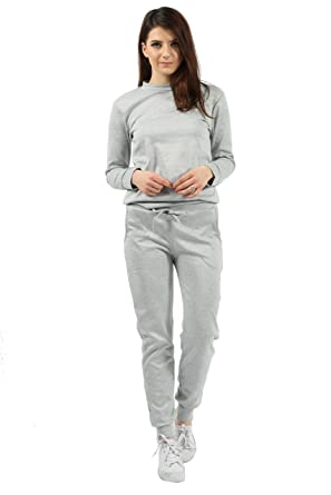 c549f532042c Missi London Women's Plain Lounge Wear Set Top & Two Piece Tracksuit  Sweatshirt Joggers Pocket Pants