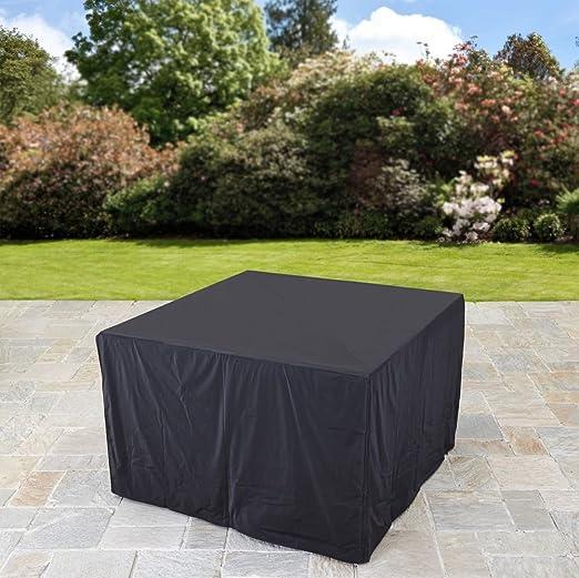 nine-pieces negro Color resistente al agua para protección de muebles/al aire libre muebles de