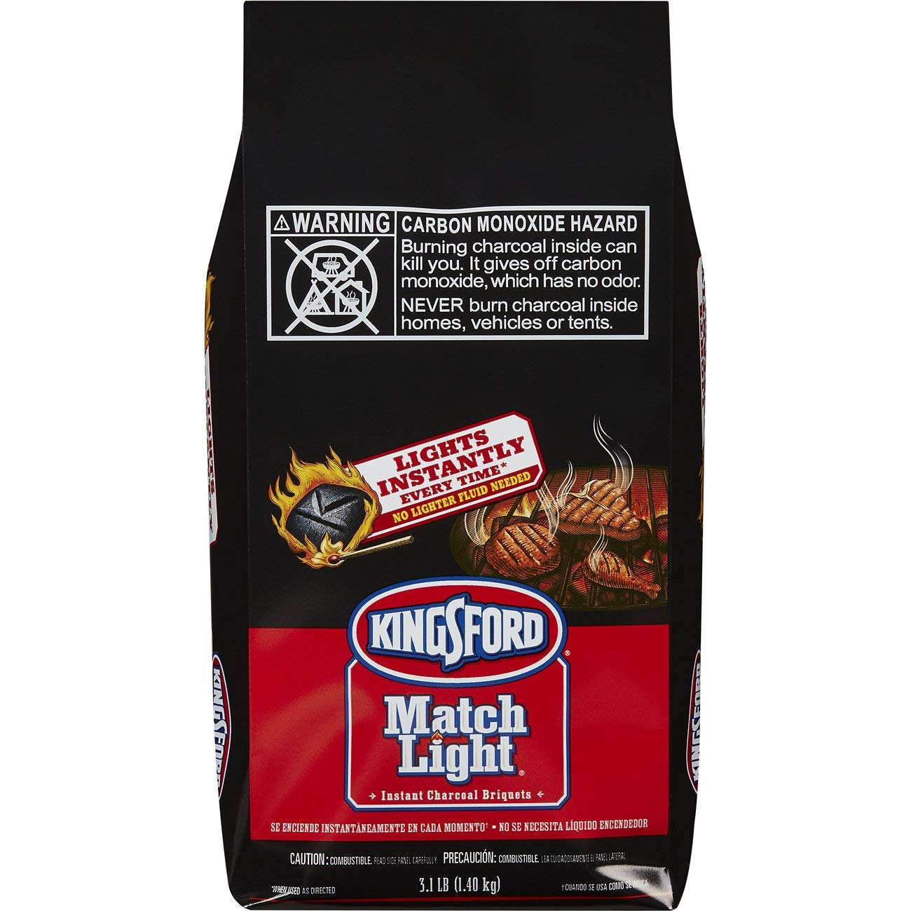 Kingsford Match Light Instant Charcoal Briquettes, 3.1 Pounds (Pack of 6) by Matchlight