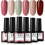 TOMICCA Gel Nail Polish Set 6 Colour Collection, Soak Off UV LED (C)