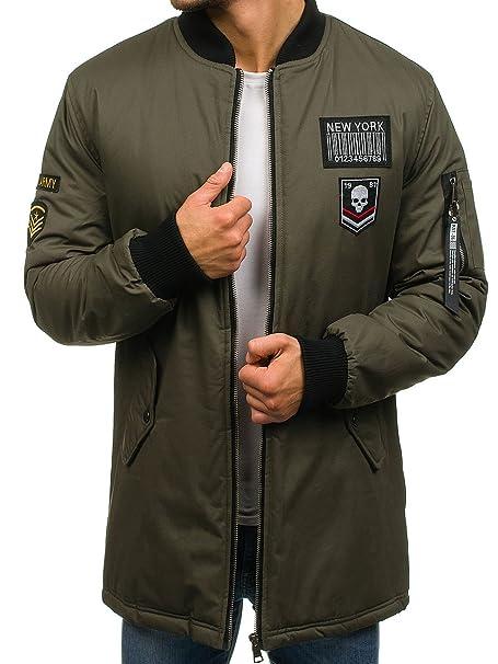 BOLF Hombre Chaqueta de Entretiempo Bomber Estilo Urbano John Ricci R60 Verde XXL [4D4]: Amazon.es: Ropa y accesorios