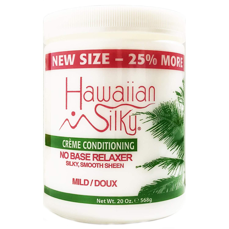 Hawaiian Silky No Base Mild Relaxer & Texturizer Treatment 20 oz - Add Silky Shine Scalp - Good of Men, Women & Kids - for All Hair types