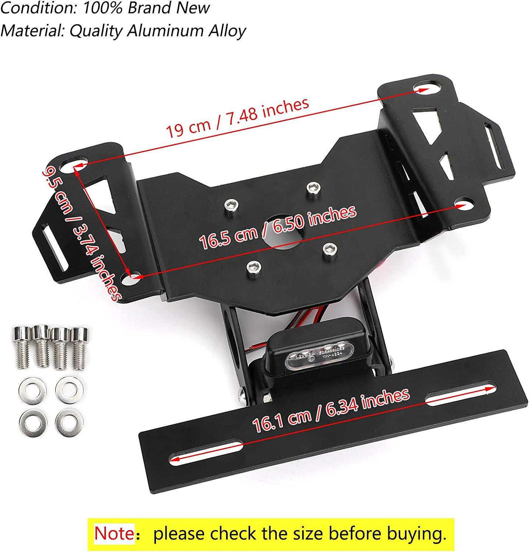 Areyourshop CNC supporto targa per H-O-N-D-A CB650R CBR650R 2019-2020