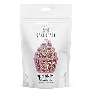 Cake Craft Sprinkles Rainbow Nonpareils 3.53 Ounces