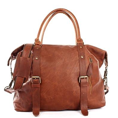 61c111e40457d LECONI XL Shopper für Damen   Herren Unisex Handgepäck Vintage-Style kleiner  Weekender Sporttasche Used