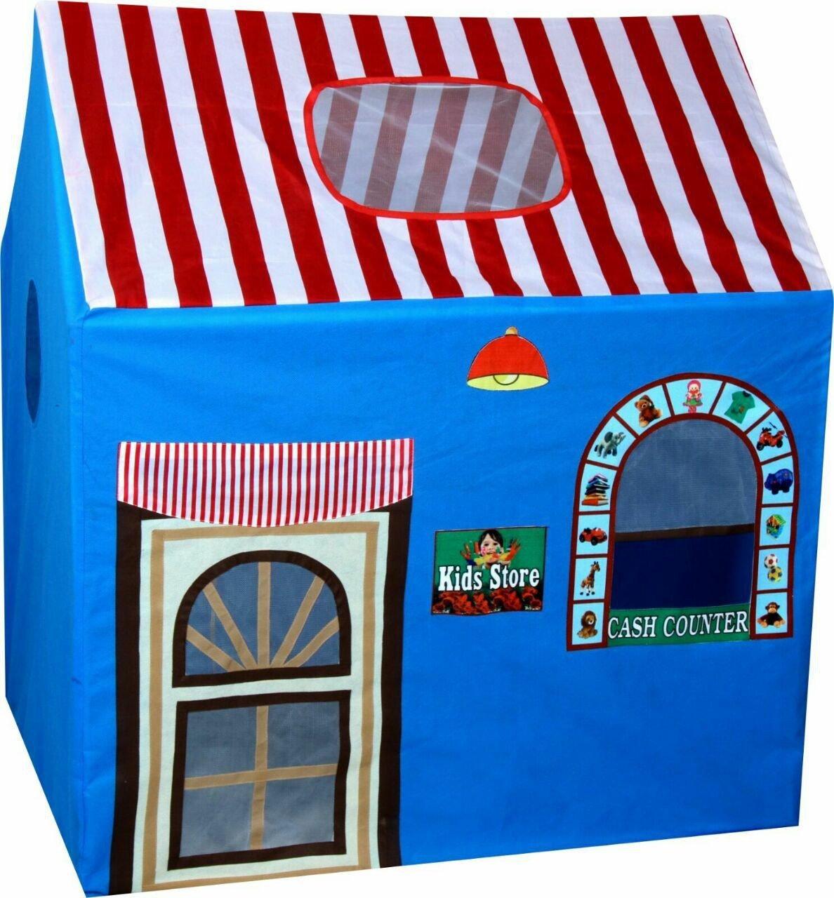 Toyshine Jumbo Size Kids Store Tent House For Kids, (Blue)