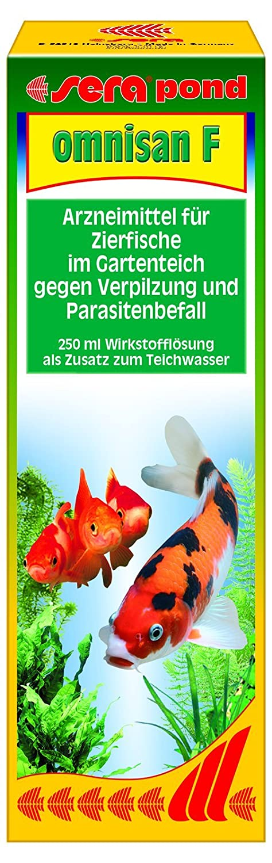 sera 075 pond omnisan Arzneimittel für Teichzierfische mit Breitbandwirkung gegen Verpilzungen und Parasitenbefall 43423