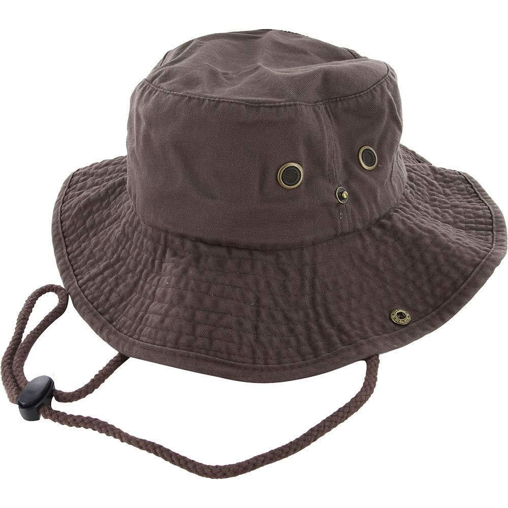 9Proud Brown Cotton Hat Boonie Bucket Cap Summer Men Women by 9Proud