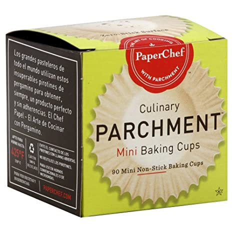 Paper Chef Parchment Cup Mini, 90 Count (Pack of 12)