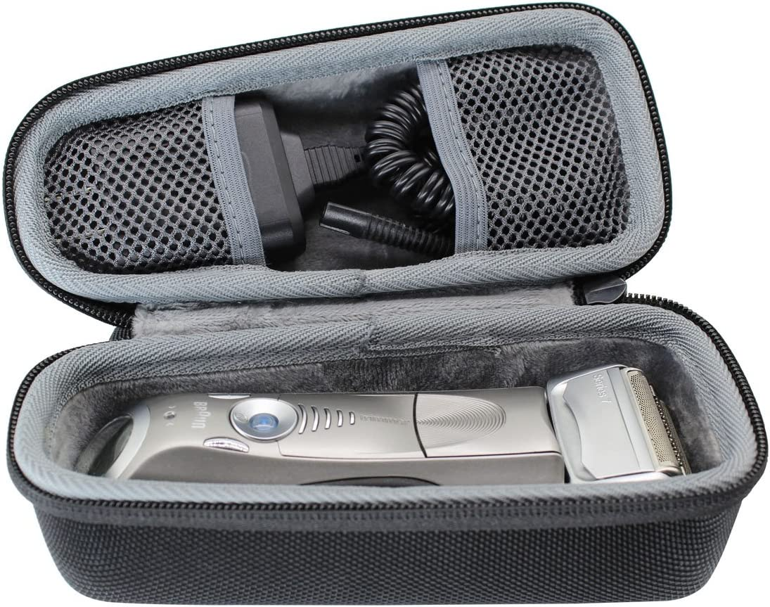 VIVENS - Bolsa de viaje rígida para afeitadora eléctrica Braun Series 5 7 9 para hombre, 790 cc 7865 cc 9290 cc 9090 cc 5190 cc 5050 cc: Amazon.es: Belleza
