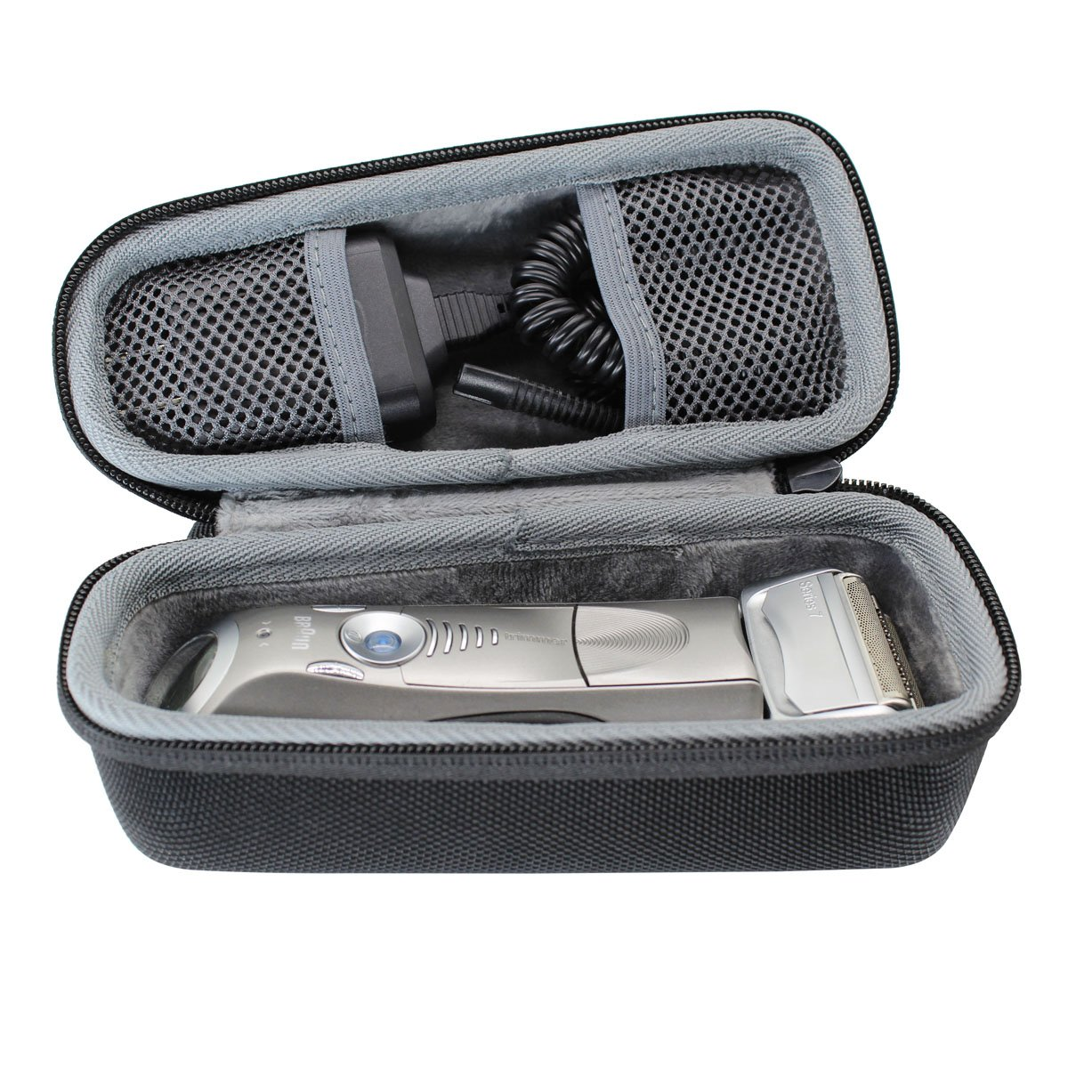 Hard Travel Case Bag for Braun Series 5 7 9 Men's Electric Foil Shaver Razor Trimmer 790cc 7865cc 9290cc 9090cc 5190cc 5050cc by VIVENS