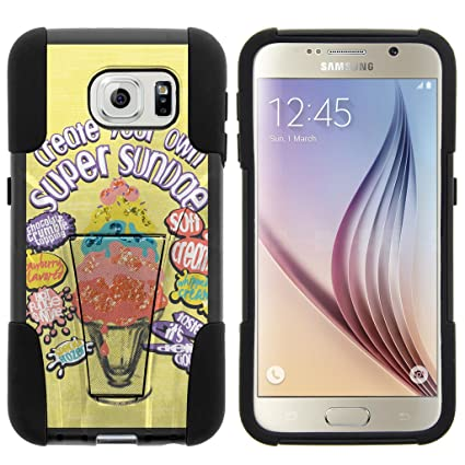 Amazon.com: Samsung Galaxy S6 VI, carcasa de doble capa con ...