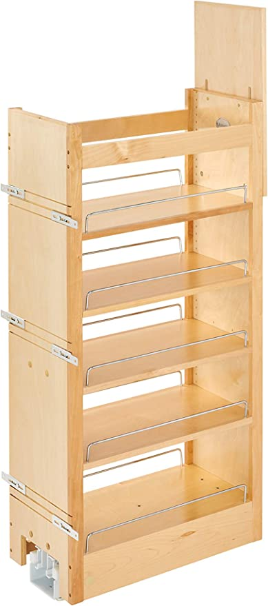 Rev-A-Shelf 11 in W X 43 in H Wood Pantry Pullout Soft Close, Natural