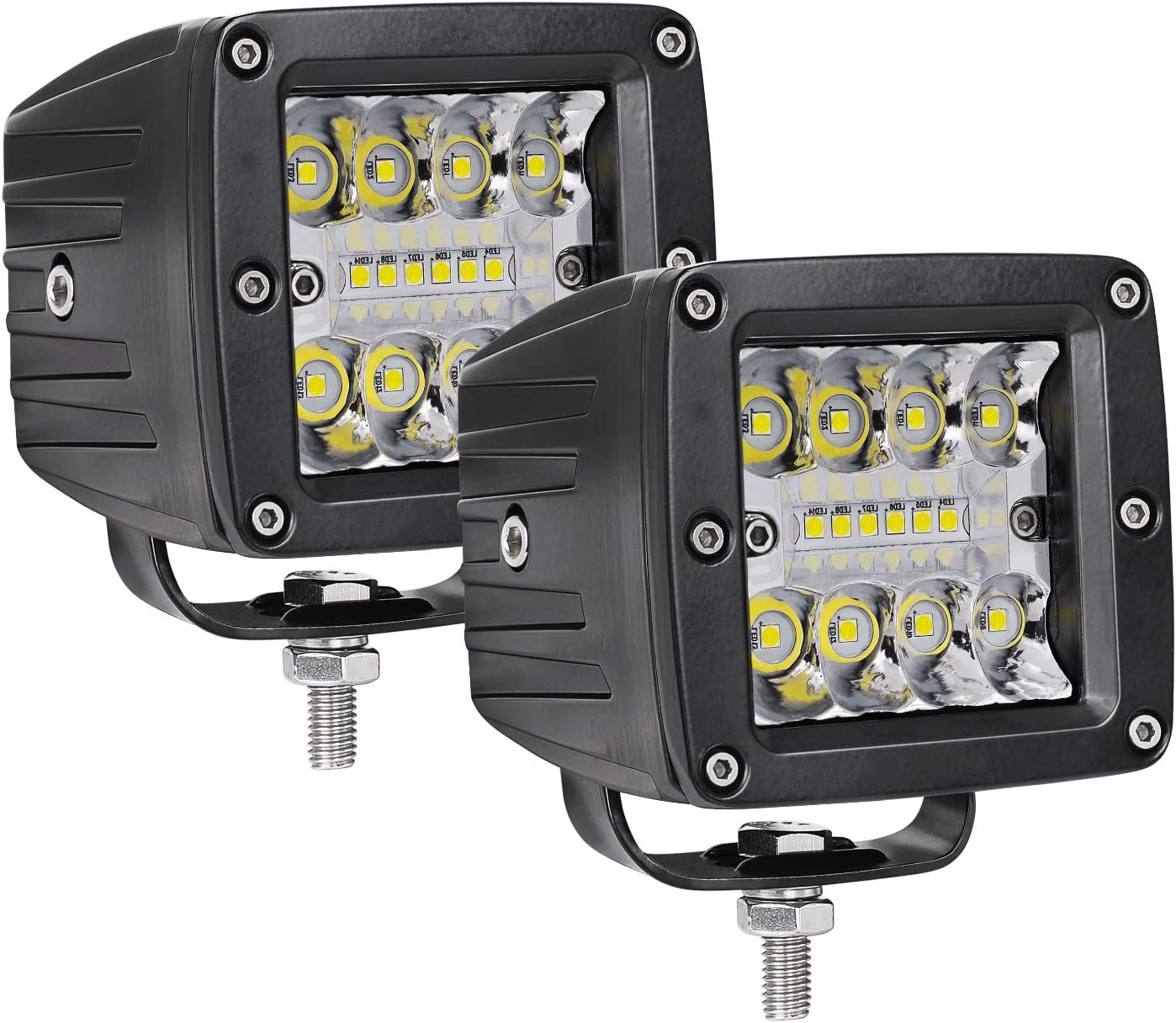 2PCS 3 Inch 84W CREE Off Road Driving Lights LED Pod Lights Combo Spot Flood LED Work Light Bars Square Fog Lights for Truck SUV ATV UTV Car Boat Niwaker LED Cubes