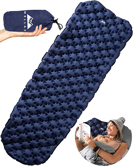 WELLAX Ultralight Inflatable Camping Mat for Backpacking