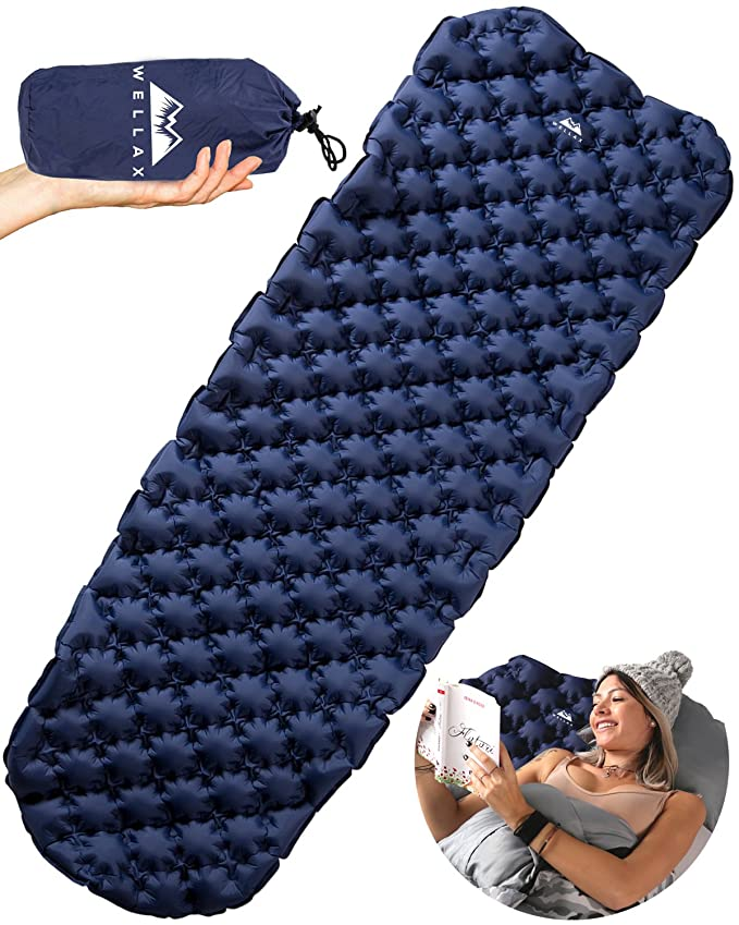 WELLAX Ultralight Air Sleeping Pad – The Super Silent Hammock Sleeping Pad