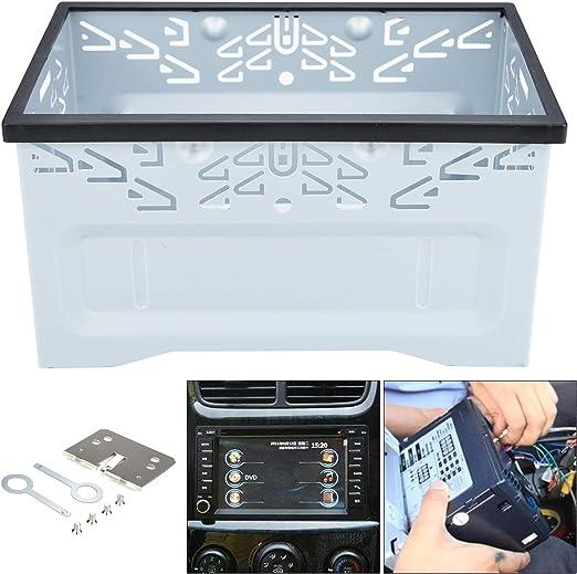 Yorking 2din Doppel Din Metall Rahmen Einbauschacht Radioblende Einbaurahmen Autoradio Fur Auto Auto