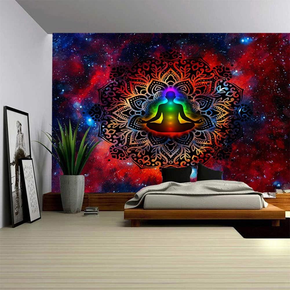 ORRIMO Home Decoration Tapestry Mandala Wall Hanging Buddha Statue Pattern Blanket G, OneSize