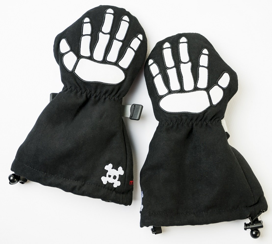 Waterproof Kids Mittens   Perfect for Snow Skiing Veyo Kids Stay on Skully Mittyz Toddler Gloves Sledding and Winter Play Easy on