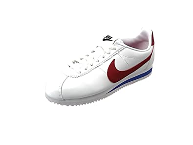 Womens WMNS Classic Cortez Leather Fitness Shoes, Bianco, 3.5 UK Nike