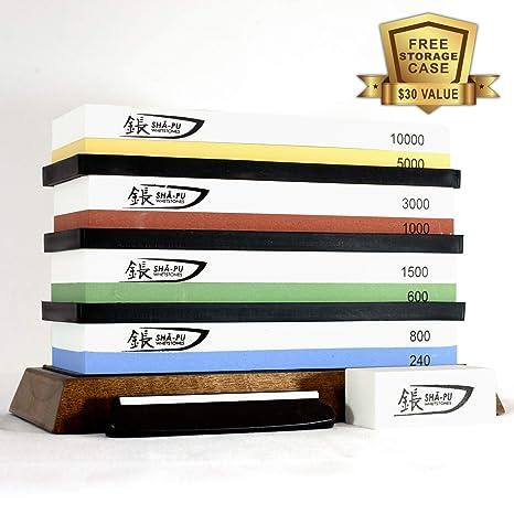 Amazon.com: Juego de cuchillos Shapu – Damasco y cuchillos ...