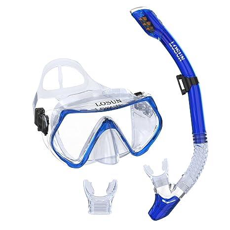 ba8072da346 Amazon.com   Losun Snorkel Mask Set for Adult with 2 Mouthpieces ...