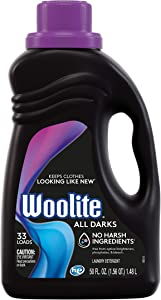 Woolite All Darks Liquid Laundry Detergent, 33 Loads, 50 Fl Oz, Dark & Black Clothes & Jeans, Regular & HE Washers,midnight breeze scent, packaging may vary