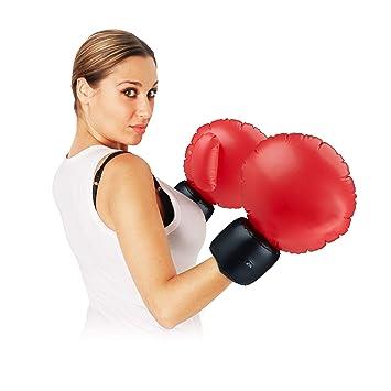 Relaxdays- Guantes Boxeo Disfraz Hinchables, Color rojo ...