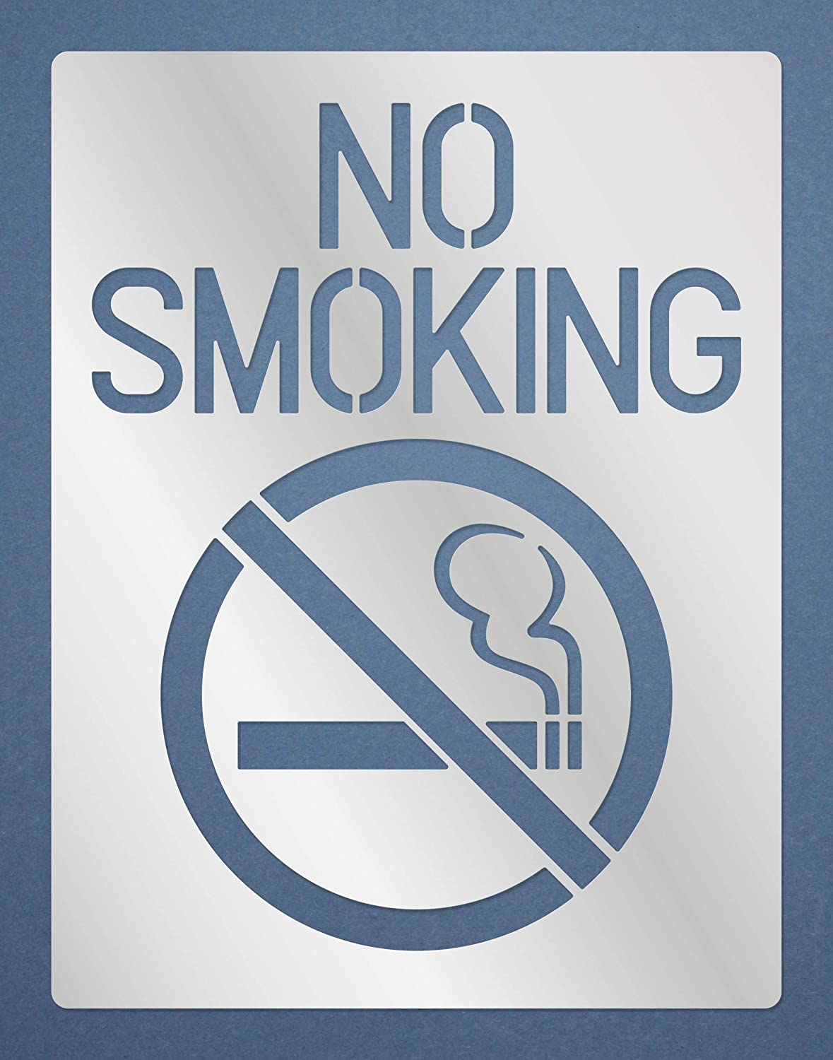 Aleks Melnyk #171 Metal Stencil, No Smoking Inside House Sign, for Home, Smoke Free/Template for Painting, Wood Burning, Wood Carving, Crafts, DIY, Engraving/1 PCS
