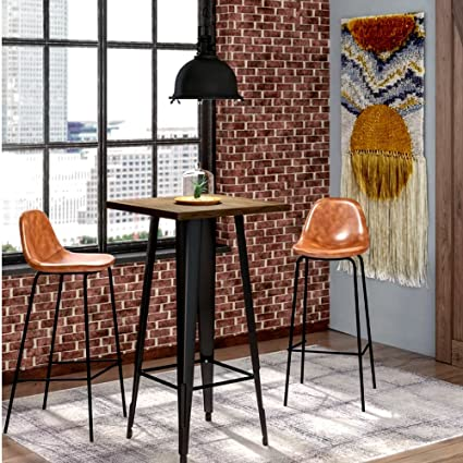 Amazoncom Long Narrow Pub Table Rustic Modern Industrial - Long cafe table