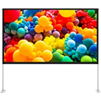 TaoTronics 100 inch Projector Screen with Stand,TT-HP027 16:9 HD Projection Screen Outdoor Indoor Portable Front Rear…