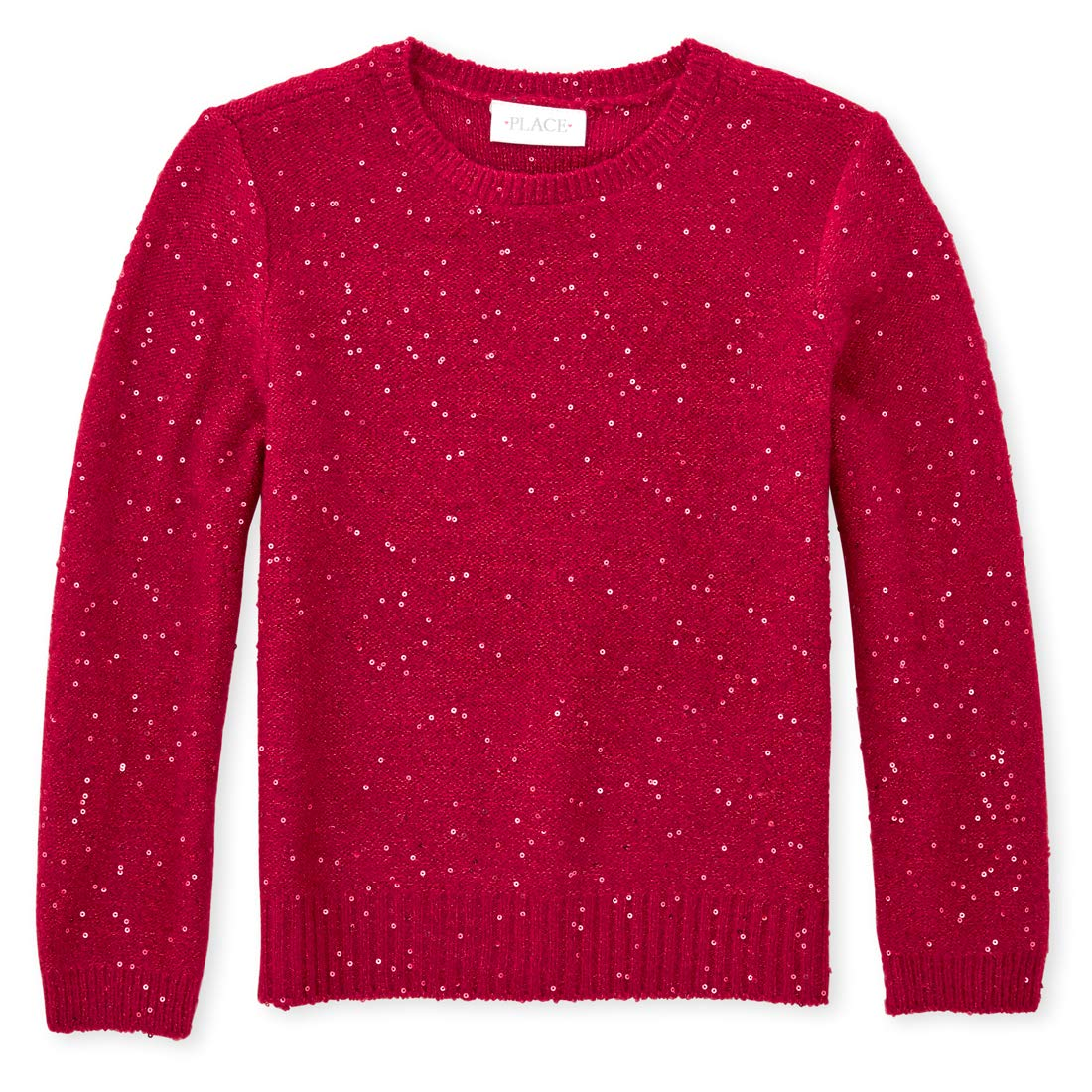 The Childrens Place Girls Big Sequin Sweater
