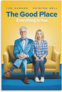 The Good Place TV Show Poster 12y Canvas Poster Bedroom Decor Sports Landscape Office Room Decor Poster Gift 08×12inch(20×30cm)