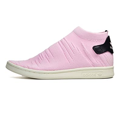 fd9ae13df7d adidas Women Stan Smith Sock Primeknit W Pink Wonder Pink core Black Size  5.0 US