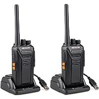 Retevis RT27 Talkie Walkie sans Licence Rechargeable Professionnel Fréquences PMR446 16 Canaux CTCSS/DCS Radio Bidirectionnelle VOX Alarme Monitor Câble USB de Charge (Noir, 1 Paire)