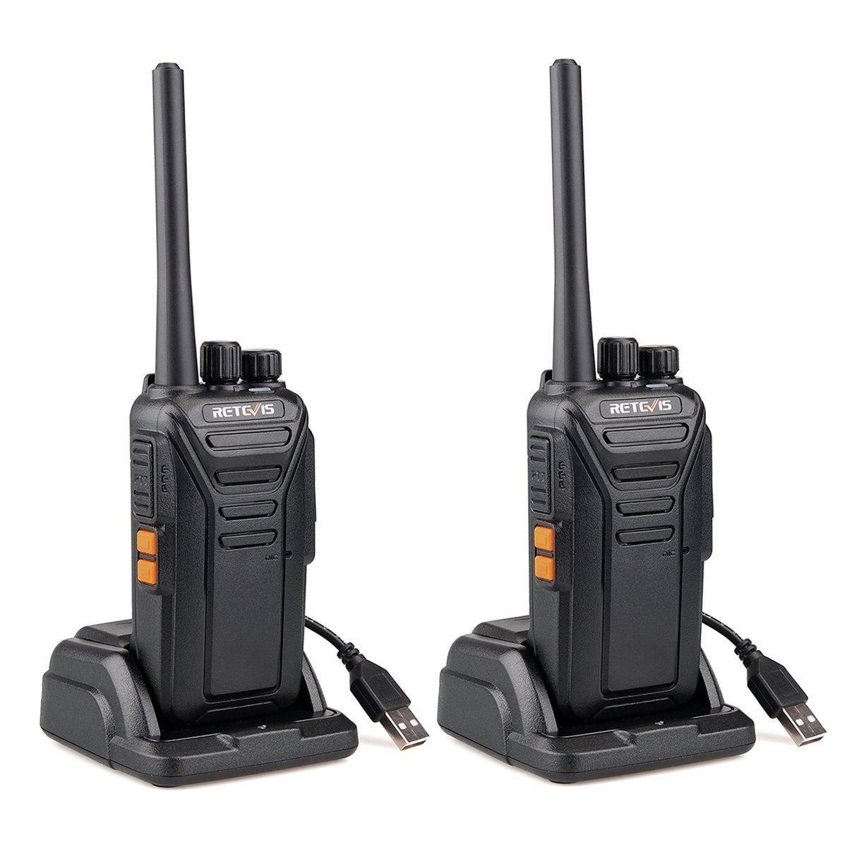 Retevis RT27 Walkie Talkie PMR446 Profesional Recargable 0.5W sin Licencia 16 Canal Subtono 50CTCSS 210DCS Vox Escanear Tot con Cargador(Negro,1 Par) EUA9133EX2