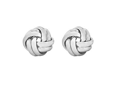 Tuscany Silver Sterling Silver Large Polished Knot Stud Earrings nqsgt7y