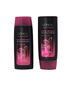 L'oreal Paris Color Vibrancy Nourishing Shampoo & Conditioner Daily Care for Color-Treated Hair 3 oz Travel Size