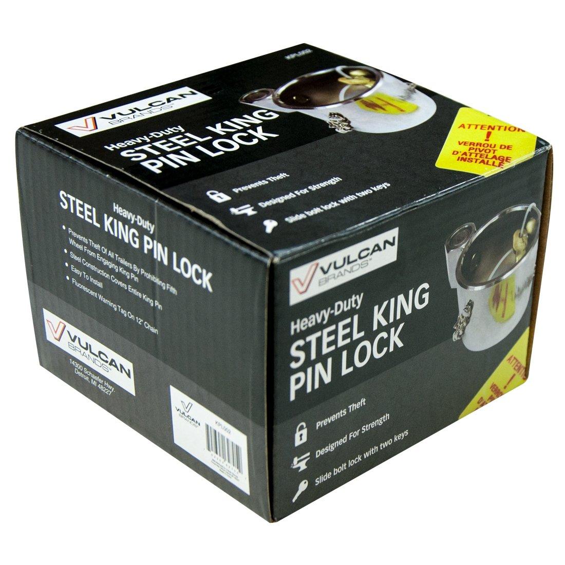 Vulcan Heavy Duty Chromed Steel King Pin Lock 4350431689