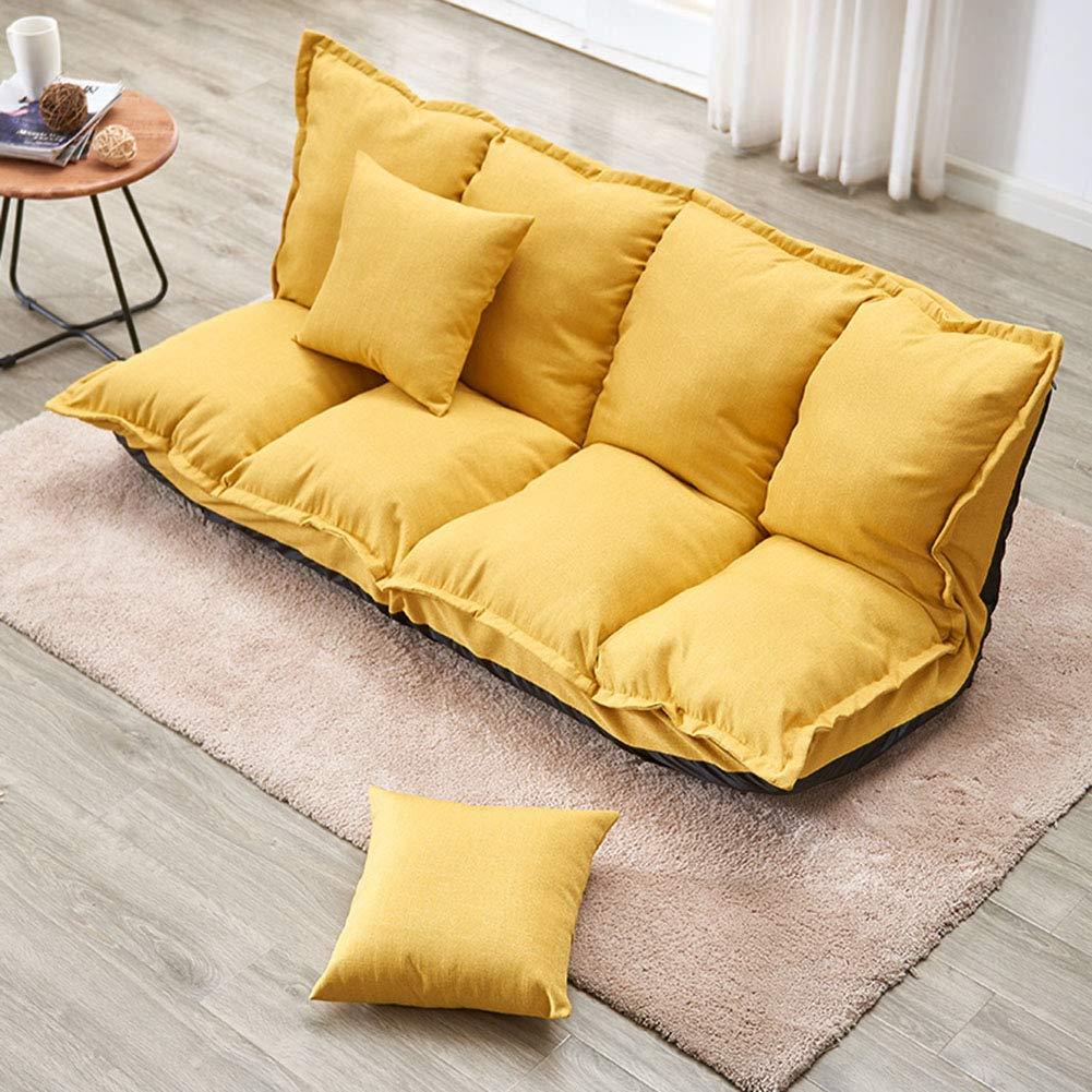 SXFYZCY Sedia da Pavimento Tatami Divano Pigro Poltrona Divano-Letto Pieghevole per luso Come Sedia Meditazione Sedia Meditazione o Yoga,A,160x112cm