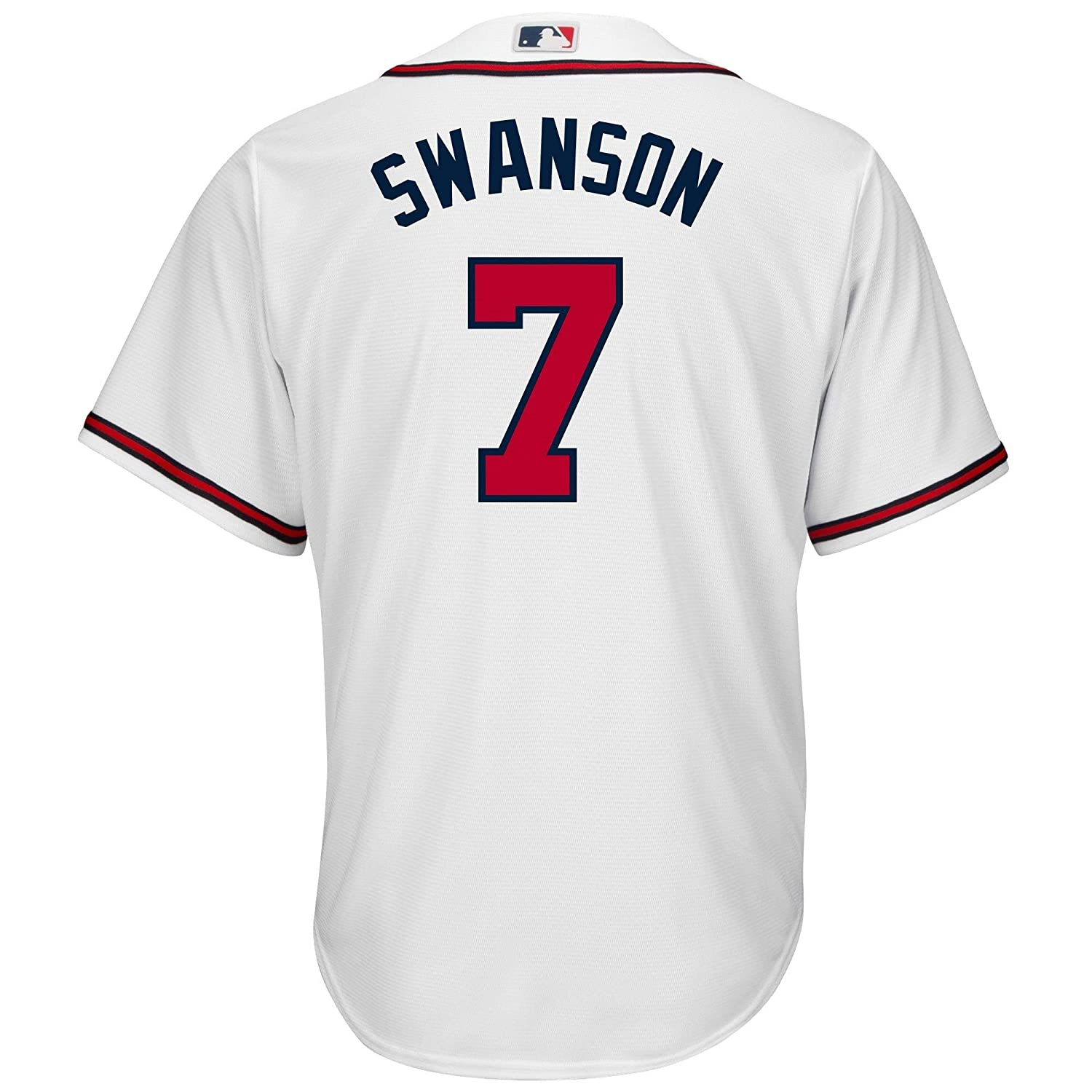 super popular 38563 973a9 Amazon.com: Dansby Swanson Atlanta Braves White Youth Cool ...