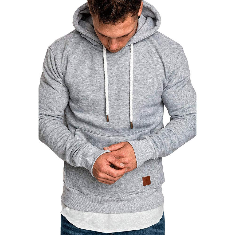 kemilove Men's Lightweight Jacket Hoodie Casual Sweatshirt Slim Fit Solid Color with Front Pocket Outwear Tops kemilove-men clothing